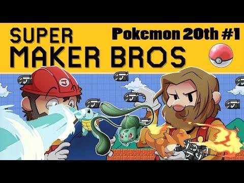 Super Mario Maker | Pokemon 20th Anniversary Ep. 1 | Super Beard Bros.