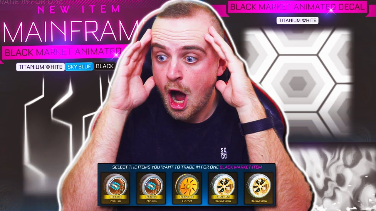 What does $500 Worth of BLACK MARKET Trade Ups Get you in Rocket League?   PAINTED MAINFRAME & MORE!