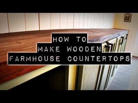 How To Make DIY Wooden Countertops | Farmhouse Style