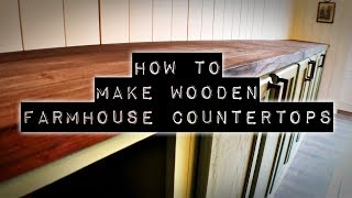 How To Make DIY Wooden Countertops   Farmhouse Style