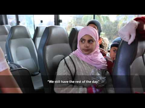 Evacuation of civilians from Yarmouk camp in Damascus
