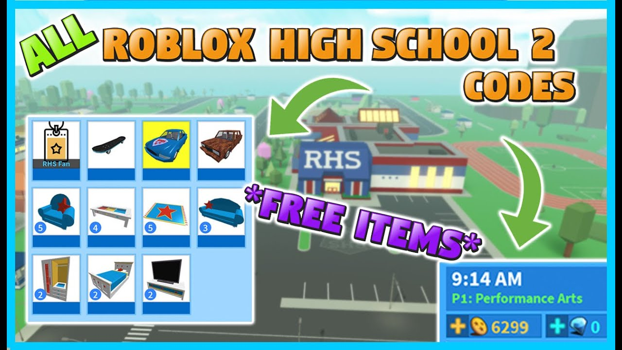 All New Roblox High School 2 Codes Free Items Working June 2020