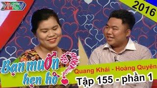 Anh chàng mũm mĩm có giọng hát truyền cảm chinh phục người yêu | Quang Khải - Hoàng Quyên | BMHH 155