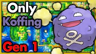 Can I Beat Pokemon Red with ONLY One Koffing? 🔴 Pokemon Challenges ► NO ITEMS IN BATTLE
