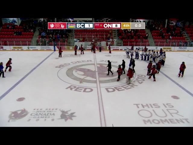 2019 CWG - Ringette - Game 25 - BC vs ON