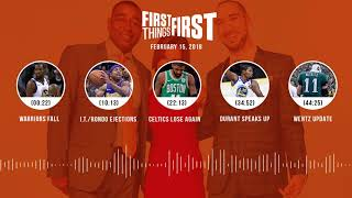 First Things First audio podcast(2.15.18) Cris Carter, Nick Wright, Jenna Wolfe   FIRST THINGS FIRST thumbnail