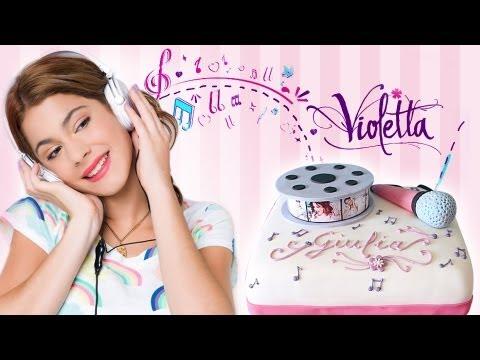 Torta Compleanno Violetta.Torta Di Compleanno Di Violetta Con Pasta Di Zucchero Youtube