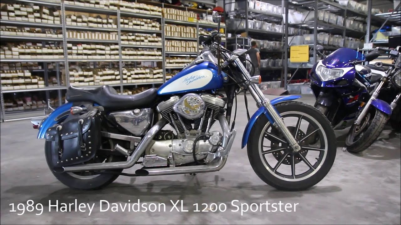 1989 harley davidson xl 1200 sportster used parts - youtube