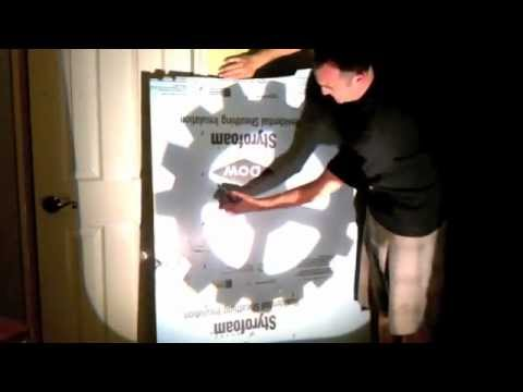 Using overhead projector to make large image
