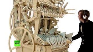 «Шарманка» нового поколения: в Швеции создали музыкальную машину с 2 тыс. стальных шариков