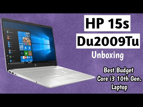 The New Hp 15s - Du2009Tu Laptop Unboxing | Core i3 10th Gen/4gbRam/1tbhdd/15.6/Win10+Office