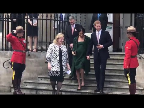 Duke & Duchess of Sussex Harry & Meghan Visit Canada House On Commonwealth Day 2019