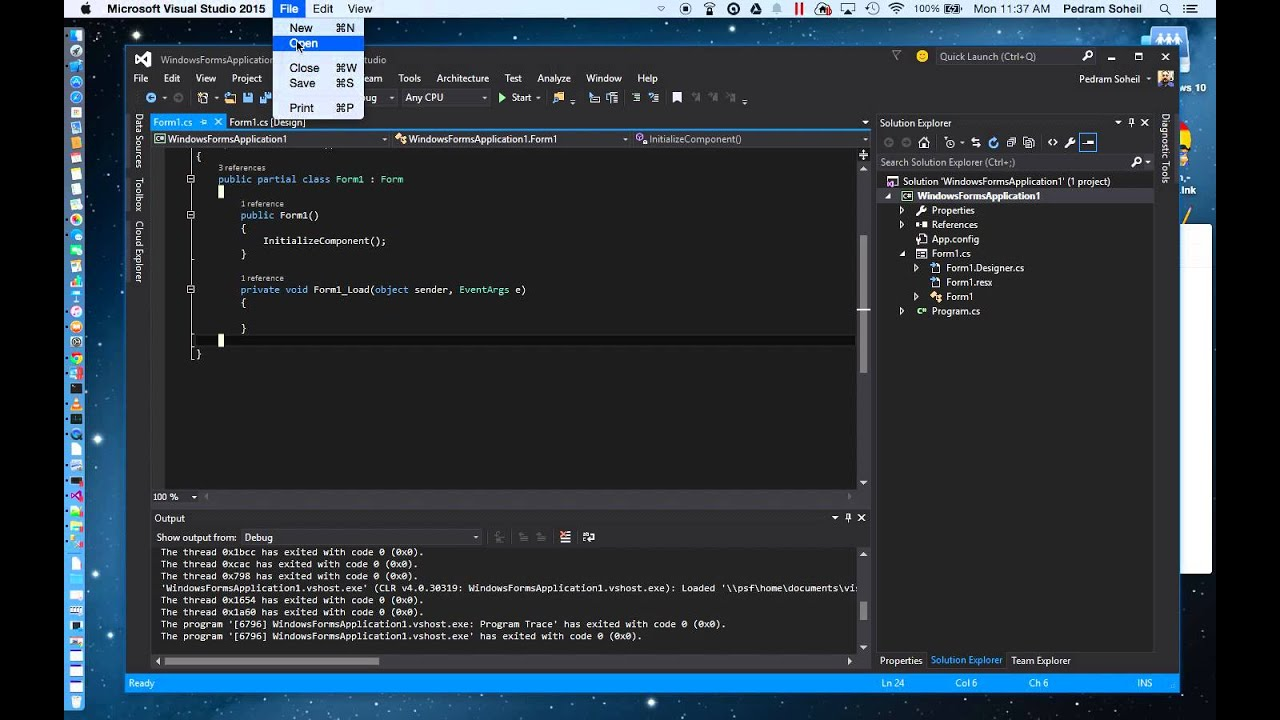 How to Run Visual Studio on Mac OSX