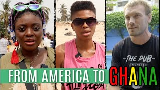 I speak to lauren, kuukua and jacob about their experiences moving from america ghana. lauren is an african american who had been travelling ghana for ...
