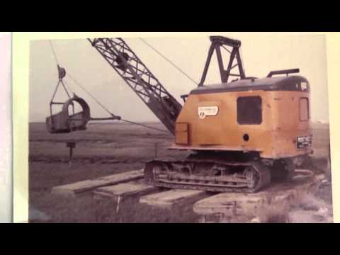 Huntington Harbour - Original Construction March 1961 - Crane Sinking Into Mud