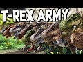 ARK Survival Evolved Ep #49 - BREEDING A T-REX ARMY! (Modded Survival)