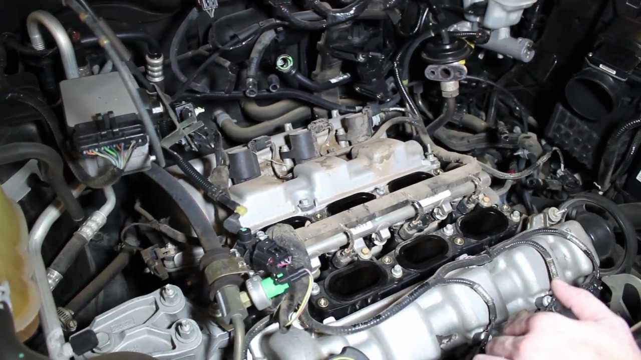 How To Change Spark Plugs On V6 30 Ford Escape Or Simlar Such 2005 F250 Engine Wiring As Taurus Ranger Etc Youtube