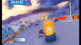 Mountain Sports (Wii) Gameplay: Sledding