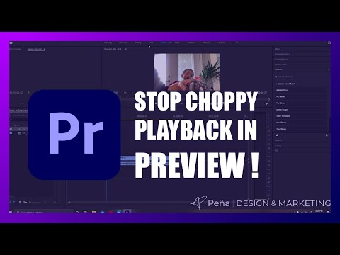 How to Fix choppy playback in Adobe Premiere Pro 2021! Easy tutorial!