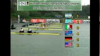 1998 World Championships - Cologne Fuehlingersee, Germany - Race 68 : M2+ / FA