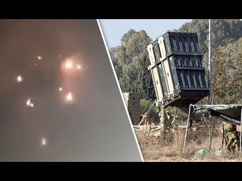 Watch Deadly incoming rocket fire DESTROYED when intercepted by Iron Dome defence system