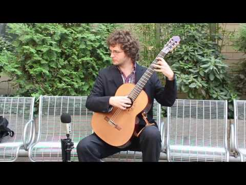Mystery Guitarist performs a Folk Song in New York City