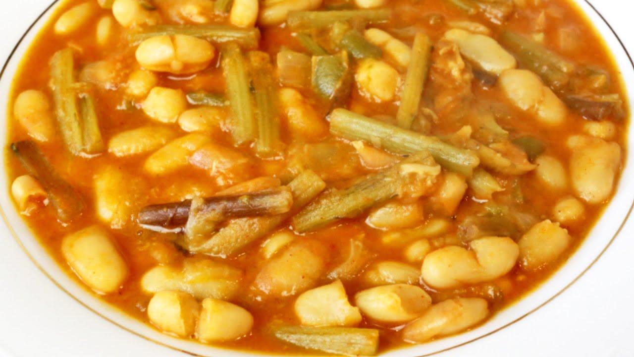 Potaje de tagarninas potaje tradicional andaluz con - Potaje de garbanzos y judias ...
