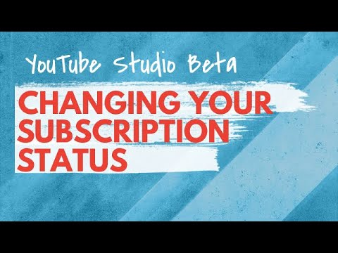 How To Change Your YouTube Subscription Settings In Studio Beta