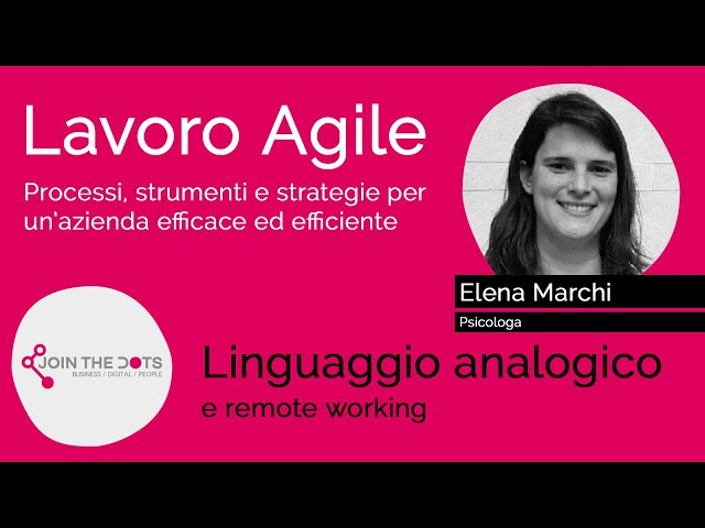 Linguaggio analogico e remote working
