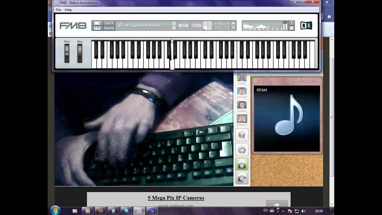 program za sviranje na tastaturi fm8