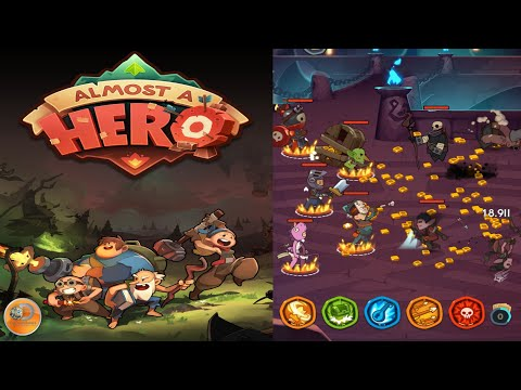 Almost A Hero - Idle RPG Clicker - Walkthrough Part 1 Gameplay Android