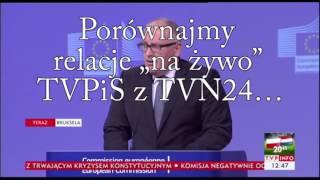 Manipulacje TVP na żywo