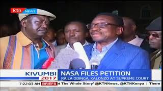 """It is not so late, the deadline is 12 O'clock today"" NASA leader Raila Odinga"