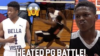 Zion Harmon vs Ramone Woods GETS HEATED in National Playoffs! Top PG's BATTLE It Out!