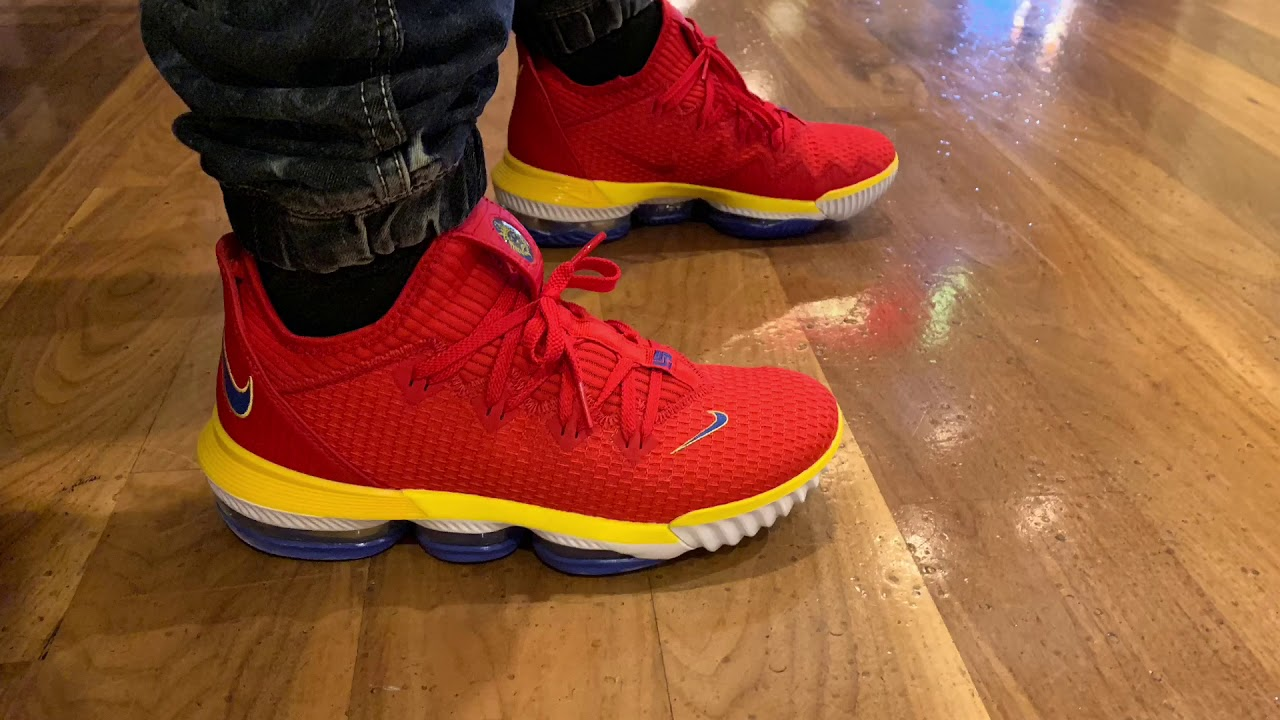 lebron 16 low red