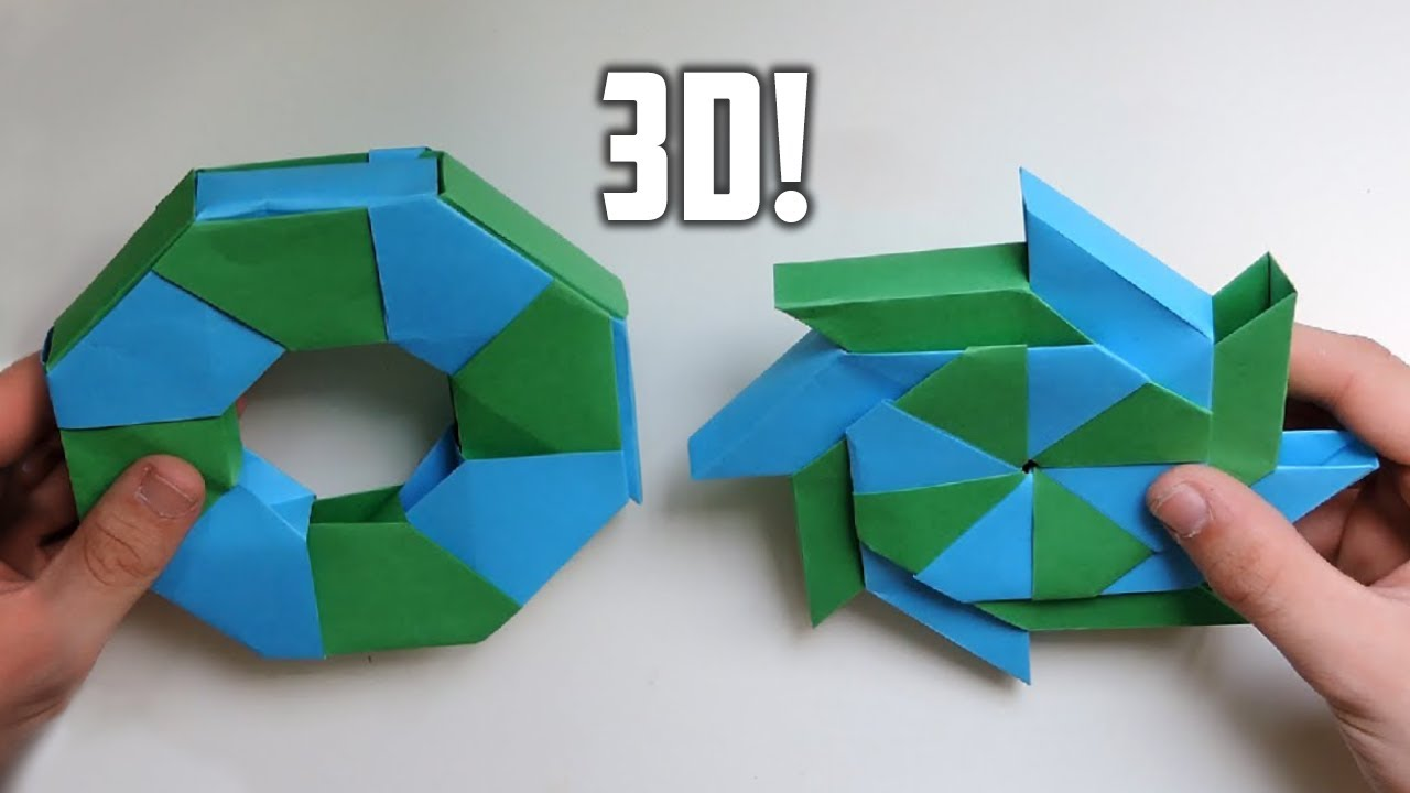 Papercraft 3D Origami Transforming Ninja Star. (Instructions) (Ray Bolt)