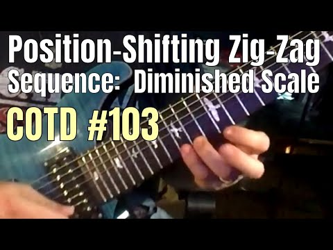Diminished Scale Position-Shifting Zig-Zag | ShredMentor Challenge of the Day #103