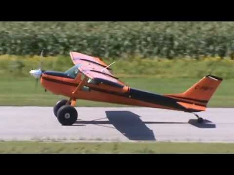 Cessna 150K on Bush Wheels Taxiing and Takeoff CSU3