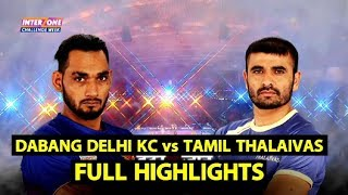 Highlights-Match 99: DABANG DELHI KC vs TAMIL THALAIVAS| Sports Tak