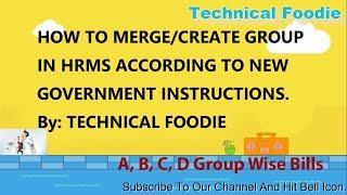 Wie Erstellen Gehalt Bill Groupwise (A, B, C, D-Gruppe) auf HRMS (Von: Technische Feinschmecker)