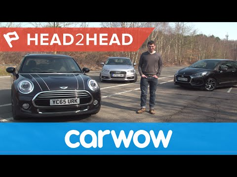 MINI vs Audi A1 vs DS 3 (Citroen) Hatchback 2016 review | Head2Head