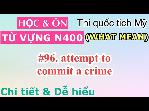 #96. attempt to commit a crime 🌻 học từ vựng N400 what mean 🌻 thi quốc tịch Mỹ | Raina Duong Vlog