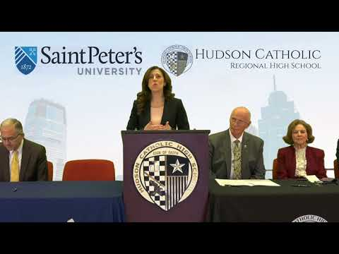 Hudson Catholic Regional High School and Saint Peter's University Dual Enrollment Signing 5/17/18