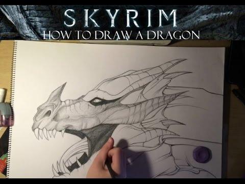 Drawing Realistic Dragon Tutorial Youtube