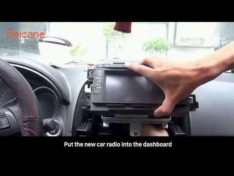 How to remove and upgrade MAZDA CX-5 ATENZA factory radio to new car gps radio installation