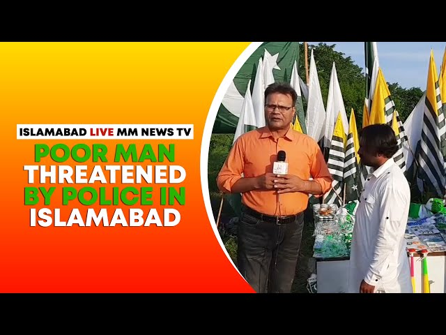 Poor Man Threatened By Police In Islamabad