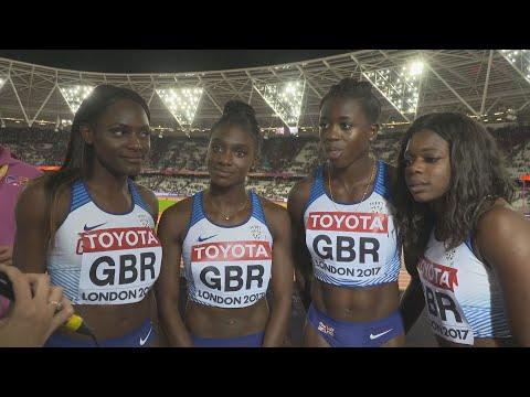 WCH 2017 London– Team Great Britain 4X100 Metres Silver