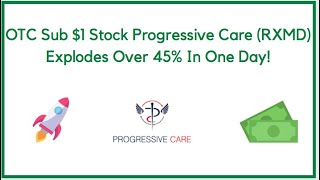 OTC Sub $1 Stock Progressive Care (RXMD) Explodes Over 45% in One Day!