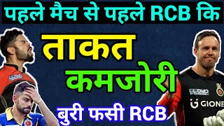 IPL 2019, RCB Strength And Weakness before IPL 2019.