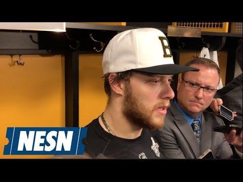 David Pastrnak Game 5 Bruins vs. Maple Leafs Postgame Interview